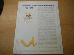 (27.03) BELGIE 1978 - Herdenkingskaarten