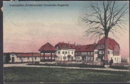 AK Cunewalde Sachsenhöhe Vorderansicht, Gelaufen 1910 - Cunewalde