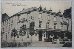 CPA REMOUCHAMPS Région Aywaille Nonceveux Hôtel Des Etrangers Verso = Note D'hôtel - Aywaille