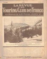 LA REVUE DU TOURING CLUB DE FRANCE 341 1923 MT REVARD TRAIN BLEU EYMOUTIERS BUSSY BUJALEUF MAQUETAUD TAYAC ARLES SAHARA - Livres, BD, Revues