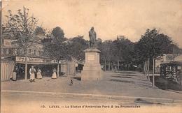 ¤¤  -     LAVAL    -   La Statue D'Ambroise Paré Et Les Promenades    -  ¤¤ - Laval