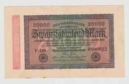 Bankbiljet Reichsbanknote Duitsland 20000 Mark 1923 F-DB UNC - [ 3] 1918-1933 : República De Weimar