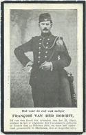 Doodsprentje Gesneuveld: VAN DER BORGHT François: ° Testelt, 1888, + Mechelen, 26 Aug 1914. Lijkdienst In De Kerk Veerle - Religión & Esoterismo