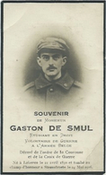 Doodsprentje Gesneuveld: DE SMUL Gaston: ° Lokeren, 1890, + Steenstrate, 24 Mei 1916. Steenstraete - Religión & Esoterismo