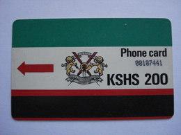 Carte Téléphonique Du Kenya  ( Utilisée ). - Kenya