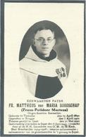 Doodsprentje: MARTENS Frans-Polidoor: ° Temse, 1890, + Ieper, 1945. Oud-brancardier, Almoezenier - Religión & Esoterismo