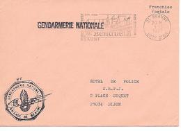 GENDARMERIE NATIONALE - Beaune - ( 21 ) - Mechanical Postmarks (Advertisement)
