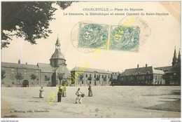 08.  CHARLEVILLE . Place Du Sépulcre . Le Séminaire La Bibliothèque Et Ancien Couvent Du St-Sépulcre . - Charleville