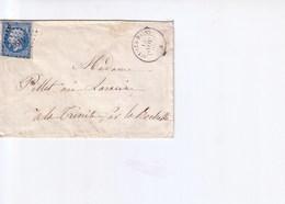 Lettre De Aix Les Bains1860 Avec Oblitération PC 1496 - 1849-1876: Période Classique