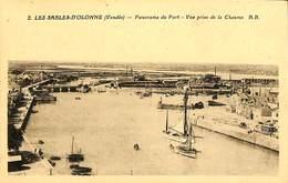 025 308- CPA - France - (85) Vendée - Les Sables D'Olonne - Panorama Du Port - Sables D'Olonne