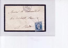 Lettre De Fontenay Le Comte  1861 PC 1285 - Marcophilie (Lettres)