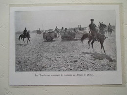 Croisière Jaune (Etape Syrie ) Citroen Autochenille  Départ De Damas Avec Escorte - Coupure De Presse De 1931 - Historical Documents