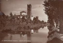 Veneto - Treviso - Castelfranco Veneto - Veduta Pittoresca  - F. Grande - Anni 40 - Bella - Italia