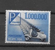 1956 MNH Italy, Cinderella: Piaggio - Motos