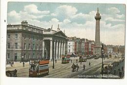 CPA, Irlande ,Sackville Street - G-P.O. And Nelsons Pillar - Dublin , Ed. Lauwence - Dublin