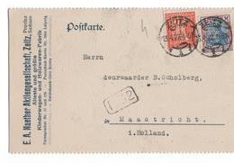 Duitsland Deutschland Germany Perfin Zeitz - EA Naether Aktiengesellaschaft Sachsen Kinderwagen HOlzwaren Fabrik - 1933 - Unclassified