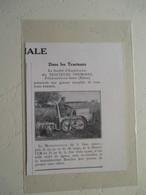 Tracteur Motochenille -  Ets Vermorel  Villefranche Sur Saone  - Coupure De Presse De 1933 - Tracteurs