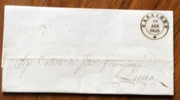 TOSCANA - Annullo CAMAIORE 12 AGO 1855 D.c.su Lettera Di G. GIANNINI,completa Di Testo Per LUCCA ( D.c. Con Rosetta ) - 1. ...-1850 Prefilatelia
