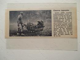 Japon  - Auto Tracteur Motochenille à Bras -   Charrue Japonaise   - Coupure De Presse De 1950 - Tracteurs