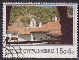 Cyprus 1988 SG #730 15c On 4c Used Kykko Monastery - Cyprus (Republic)