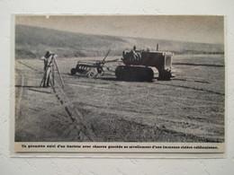 Californie Sacramento - Tracteur De Rizière Avec Géomètre - Coupure De Presse De 1954 - Tracteurs