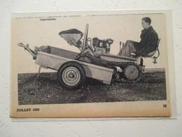 France  - Engin Mini Tracteur Autochenille Peleteuse - Coupure De Presse De 1950 - Tractors