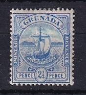 Grenada: 1906   Badge Of Colony   SG80     2½d   Blue   MH - Grenada (...-1974)