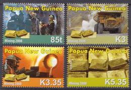 Papua New Guinea MNH Gold Mining Set - Minerales