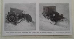 Vosges  - Autochenille De Neige Citroen - Coupure De Presse De 1931 - Tracteurs