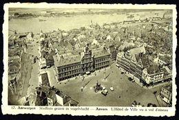 ANTWERPEN - ANVERS - Stadhuis Gezien In Vogelvlucht - Vue Aér. Hôtel De Ville - Circulé - Circulated - Gelaufen - 1950. - Antwerpen