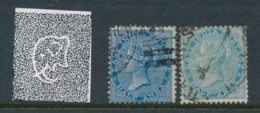 INDIA, 1865 Half Anna (die 1 + 2) Wmk Elephant Fine Used, SG54,55 - India (...-1947)