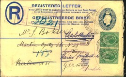 1923, 6 D Registration Envelope With Additional Franking From JOHANNESBURG To Berlin, Redirected Within The City - Non Classificati