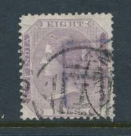 INDIA, 1860 8 Pies Purple, No Wmk Fine Used - Inde (...-1947)