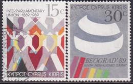 Cyprus 1989 SG #745-46 Compl.set Used Interparliamentary Union - Cyprus (Republic)