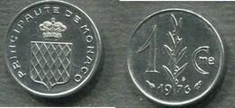 MONACO - 1 CENTIME 1976 - Monaco