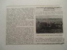 Ménil-la-Horgne (Meuse) - Tracteur Ecole D'Agriculture (Enseignement Nomade)  - Coupure De Presse De 1931 - Tracteurs