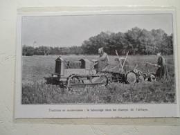 Ile De Lerins  (Cannes)  - Tracteur De L' Abbaye Avec Les Moines - Coupure De Presse De 1931 - Tracteurs