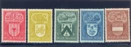 Nrs. 743/747  Postgaaf ** MNH Prachtig - Belgien