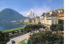 Lugano - Panorama (fotomontaggio) - TI Tessin