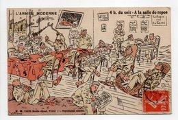 - CPA MILITAIRES - L'ARMÉE MODERNE - A La Salle De Repos - Série E. R. 15108 - - Humour
