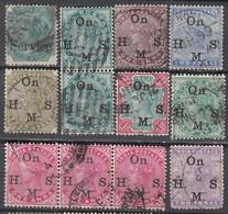 INDIEN Ab 1865 - Dienstmarken Victoria  Lot 12x Used - India (...-1947)