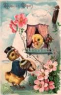 "CPA - FANTAISIE ILLUSTREE ""Joyeuses Pâques"" ... - Edition ? - Pâques"