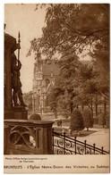 1935 L'Eglise Notre-Dame Des Victoires Sablon - Pub Delhaize Frères Le Lion - Exposition Universelle Bruxelles - 2 Scans - Monuments, édifices