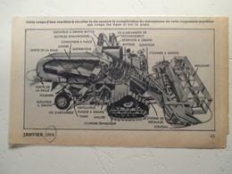 Californie Sacramento - Tracteur De Rizière Coupe De Machine - Coupure De Presse De 1954 - Tracteurs
