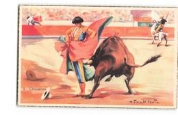 Corrida Tauromachie Chicuelina Taureau Illustration Illustrateur Givalt Levin - Corrida