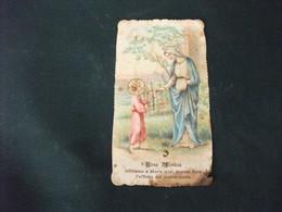 SANTINO HOLY PICTURE IMAIGE SAINTE A MARIA SANTISSIMA ROSA MISTICA SCIUPATO - Religione & Esoterismo
