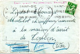 VIEILLE ENVELOPPE   CENSUREE - France