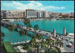Ägypten - Kairo - Cairo - Tahrir Nile Bridge And Shepheard & Semiramis Hotels - Cars - Kairo