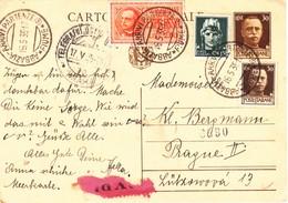 Cartolina Postale - Cent. 30 Con Integrazione Di Tariffa A Cent. 75 + Espresso L. 2,50 - 1900-44 Victor Emmanuel III