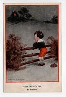 - CPA Fred SPURGIN (illustrateurs) - HER WINDOW - Sa Fenêtre - Series ENGLISH KIDS 316 - - Spurgin, Fred